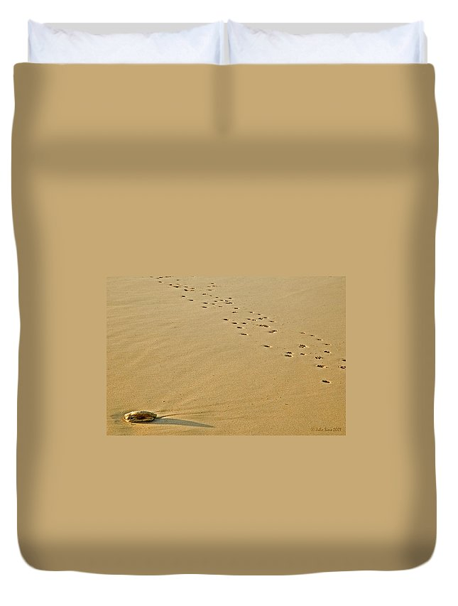 Sand Duvet Cover featuring the photograph Golden Sand 4 by Julis Simo