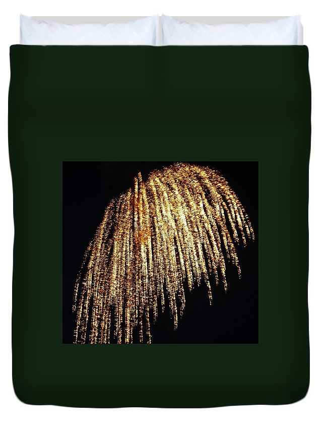 Fireworks Duvet Cover featuring the photograph Golden Umbrella by Aimee L Maher ALM GALLERY