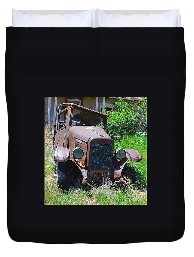 International Harvester Company Duvet Cover featuring the photograph Golden Years by Derry Murphy