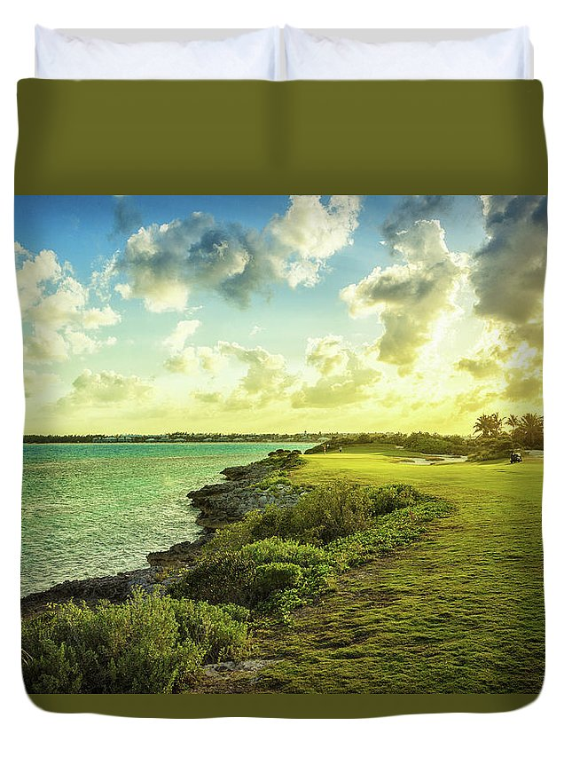 Scenics Duvet Cover featuring the photograph Golf Course by Chang