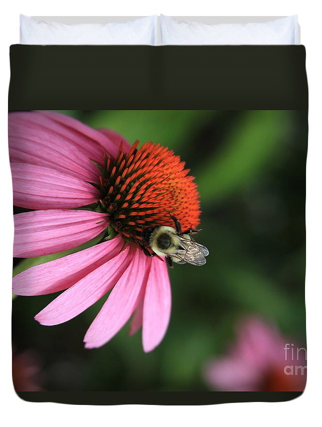 Best Flower Duvet Cover featuring the photograph Good Worker by Reid Callaway