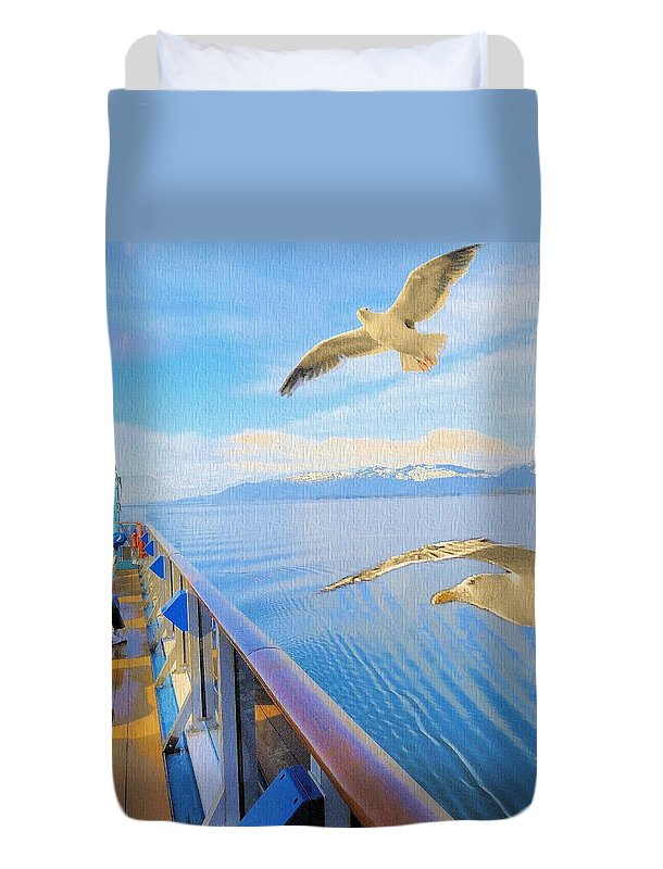 Alaska Duvet Cover featuring the photograph Goodbye Alaska by Janette Boyd