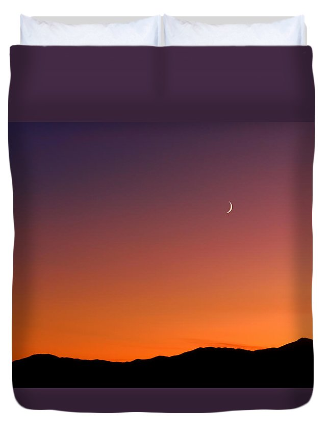Goodnight Moon Duvet Cover featuring the photograph Goodnight Moon by Rona Black
