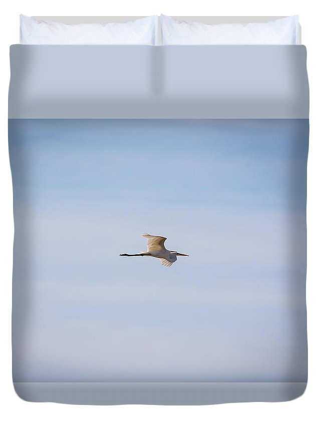 South Dakota Duvet Cover featuring the photograph Gossamer Wings - Great Egret by M Dale