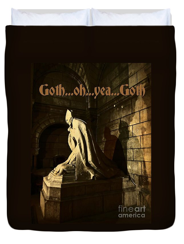 Goth Poster Duvet Cover featuring the photograph Goth Poster by John Malone Halifax Graphic Arts