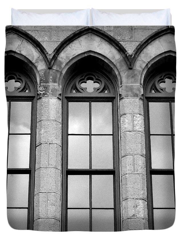 Joseph Skompski Duvet Cover Featuring The Photograph Gothic Windows