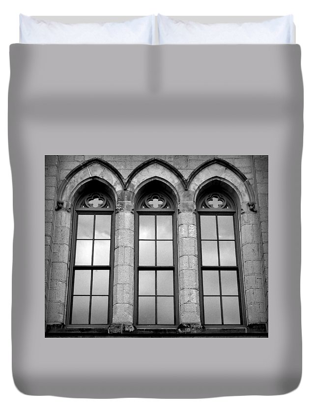 Joseph Skompski Duvet Cover Featuring The Photograph Gothic Windows