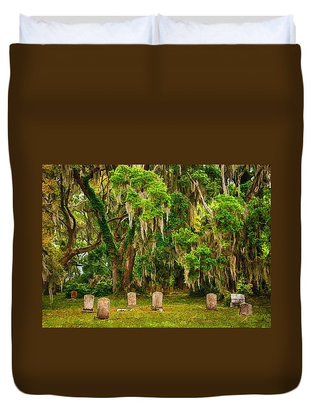Gould's Cemetery Duvet Cover featuring the photograph Gould's Cemetery by Priscilla Burgers