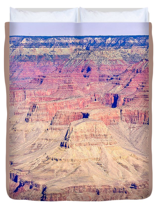 Grand Duvet Cover featuring the photograph Gran Canyon 32 by Douglas Barnett