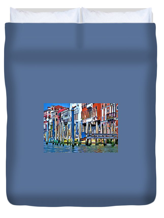 Italy Duvet Cover featuring the photograph Grand Canal - Venice by Allen Beatty