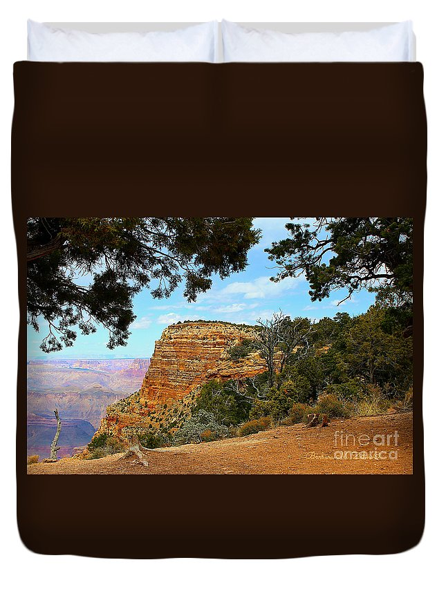 Canyons Duvet Cover featuring the photograph Grand Canyon - South Rim by Barbara Zahno