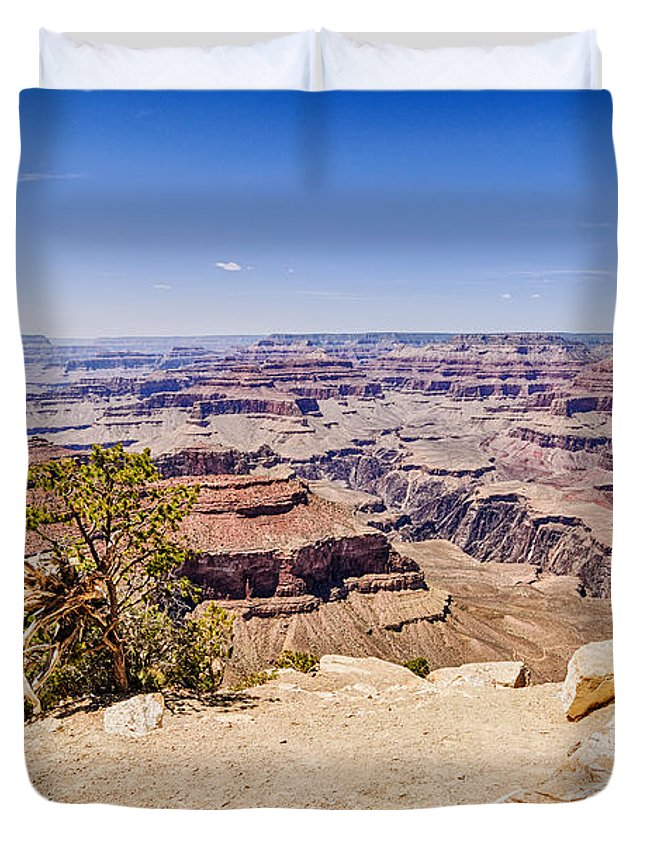 Grand Canyon Duvet Cover featuring the photograph Grand Canyon 1 by Brett Engle