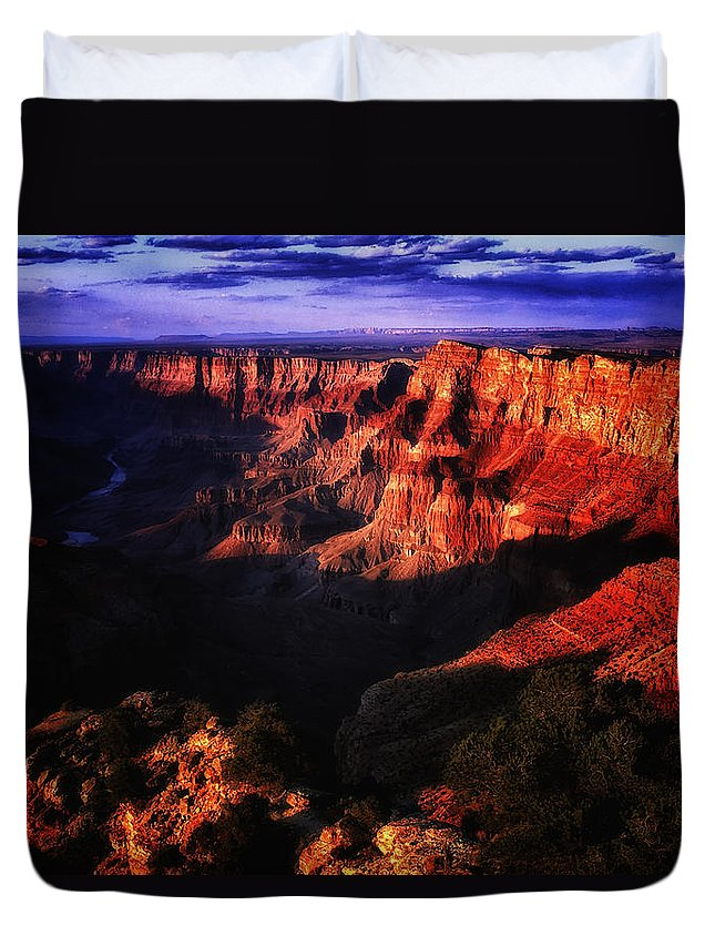 American Duvet Cover featuring the photograph Grand Canyon 119 by Ingrid Smith-Johnsen