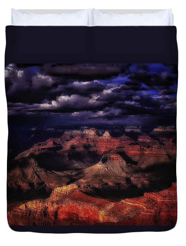 American Duvet Cover featuring the photograph Grand Canyon 27 by Ingrid Smith-Johnsen
