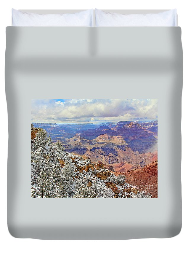 Grand Canyon Duvet Cover featuring the photograph Grand Canyon 3687 by Jack Schultz