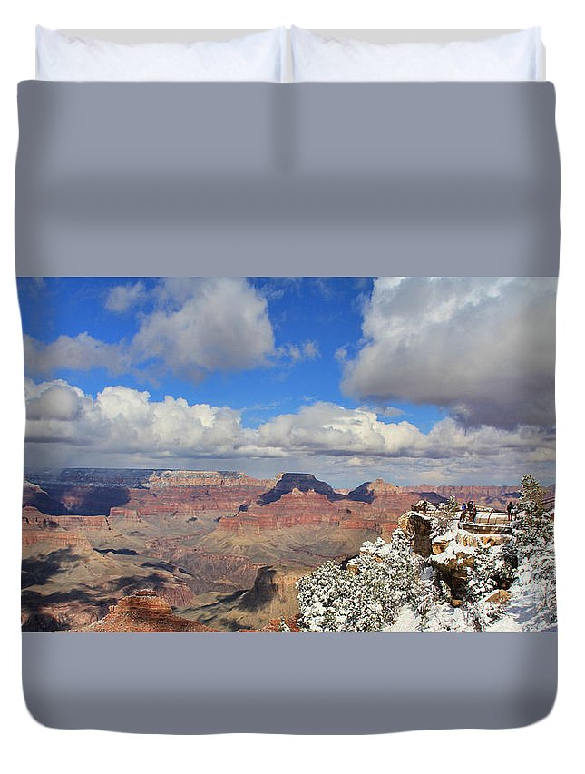 Grand Canyon Duvet Cover featuring the photograph Grand Canyon 3930 by Jack Schultz