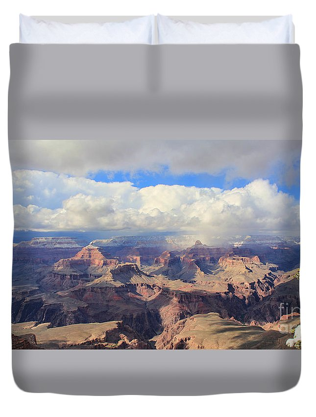 Grand Canyon Duvet Cover featuring the photograph Grand Canyon 3971 3972 by Jack Schultz