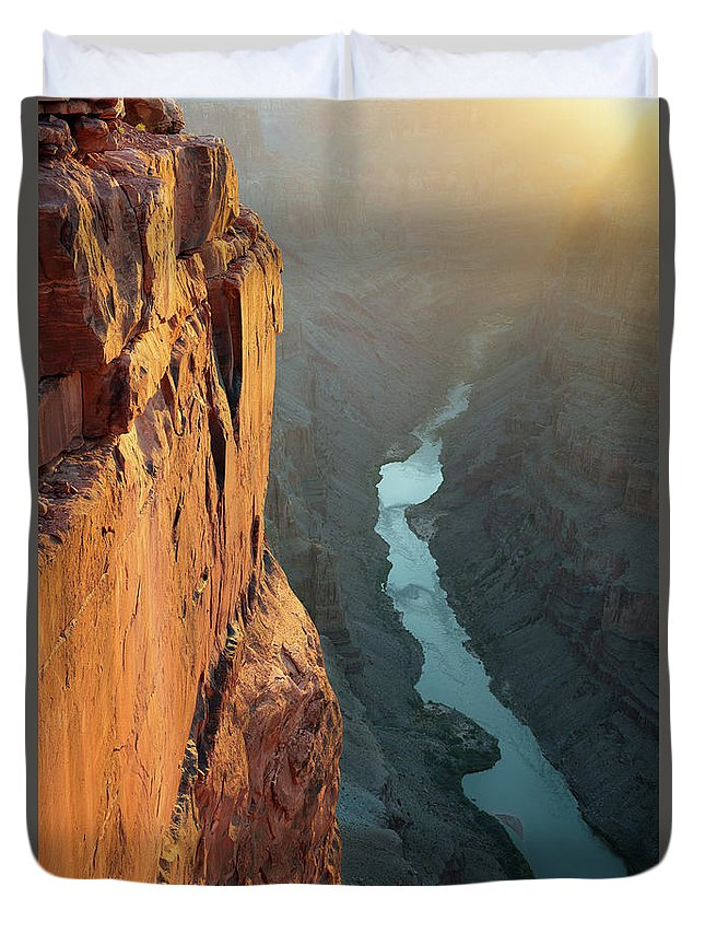 Scenics Duvet Cover featuring the photograph Grand Canyon Toroweap Point Morning by Kjschoen