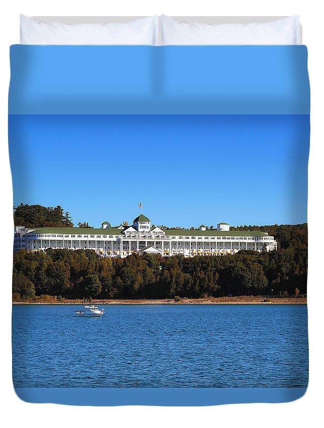 Grand Hotel Mackinac Island Duvet Cover featuring the photograph Grand Hotel Mackinac Island by Rachel Cohen