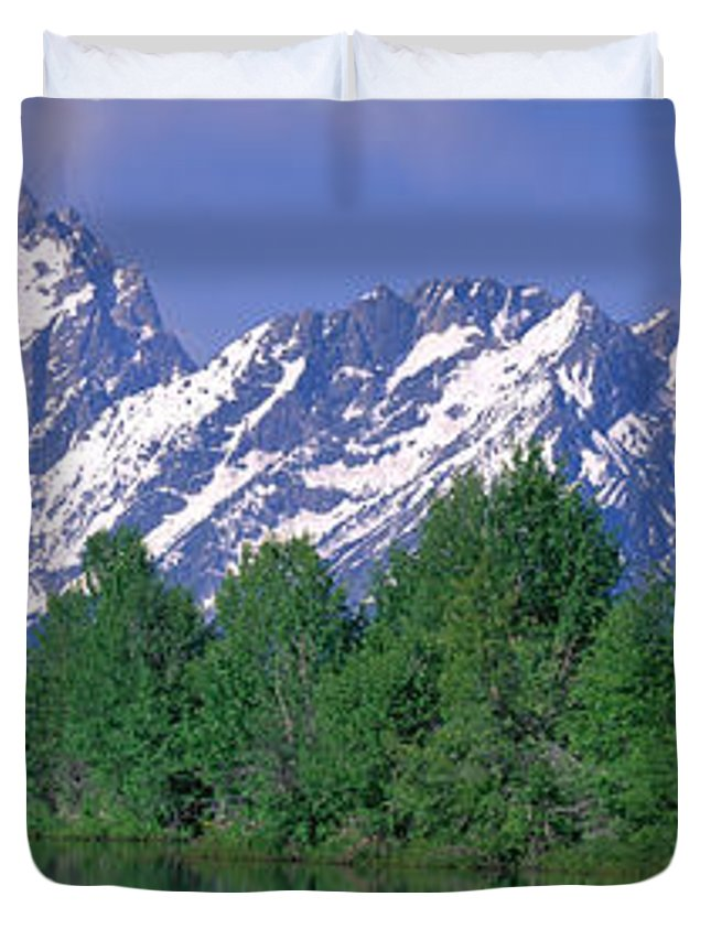 Photography Duvet Cover featuring the photograph Grand Tetons National Park Wy by Panoramic Images