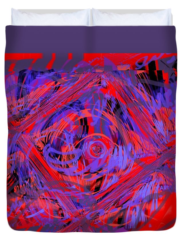 Graphic Art Duvet Cover featuring the digital art Graphic Explosion by Pharris Art