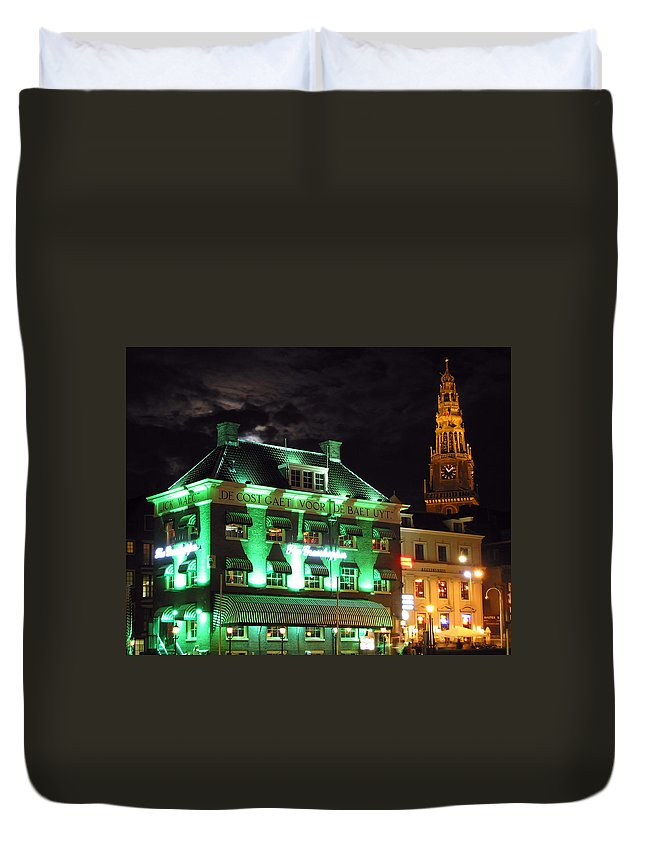 3scape Duvet Cover featuring the photograph Grasshopper Bar by Adam Romanowicz