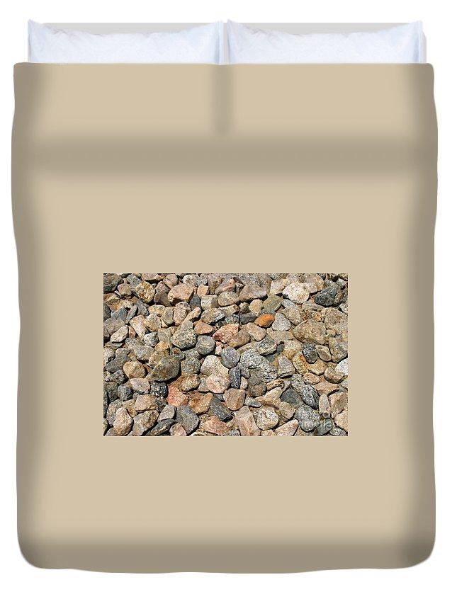 Rocks Duvet Cover featuring the photograph Gravel Stones by Henrik Lehnerer