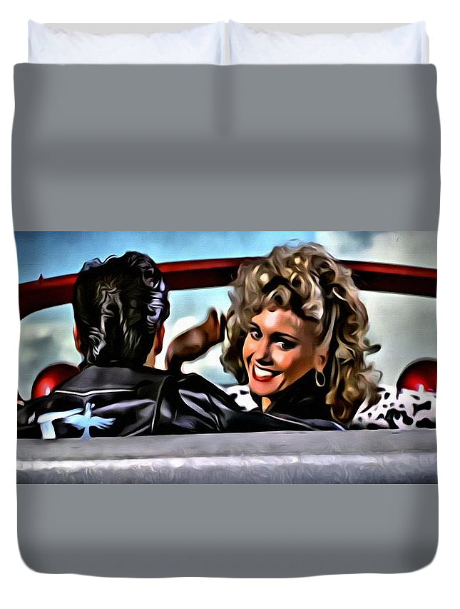 Grease Duvet Cover featuring the painting Grease by Florian Rodarte