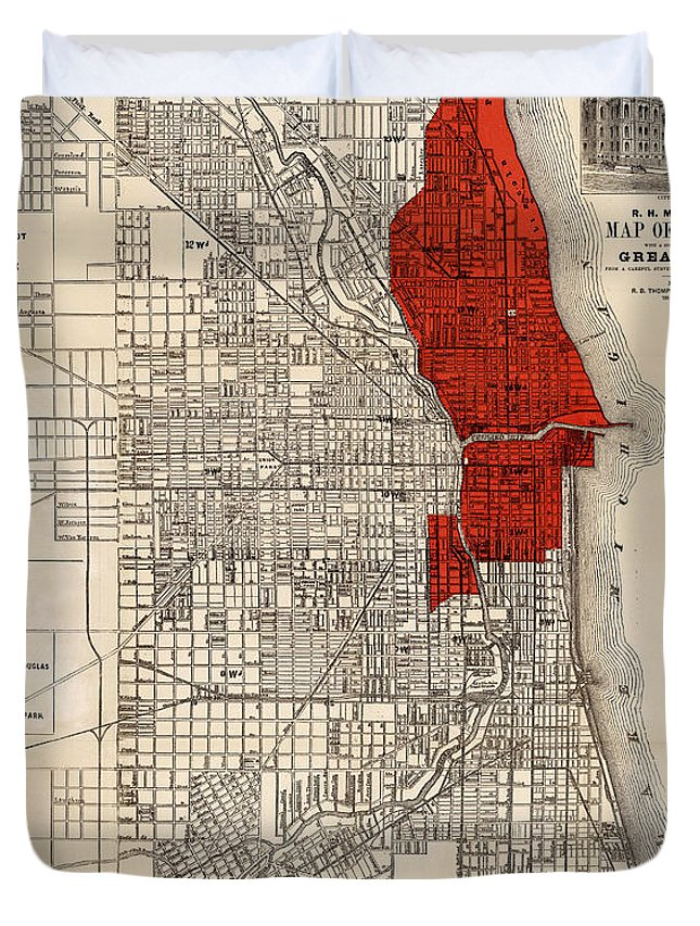 Great Chicago Fire Duvet Cover For Sale By Andrew Fare