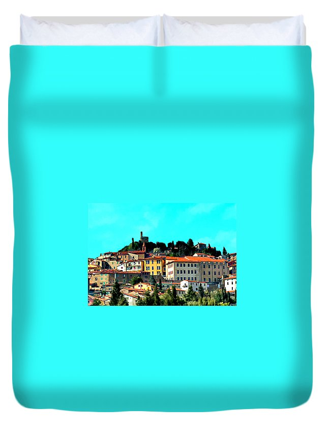Village Duvet Cover featuring the painting Great Day In The Village by Bruce Nutting