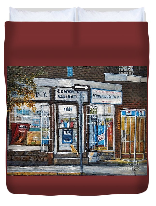 Montreal Paintings Duvet Cover featuring the painting Great Expectations by Reb Frost