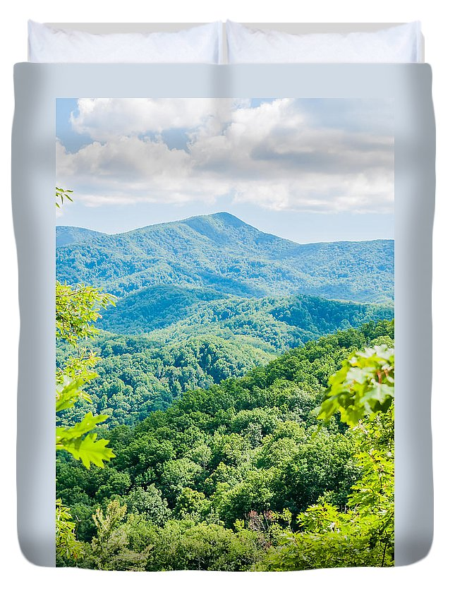 America Duvet Cover featuring the photograph Great Smoky Mountains National Park Near Gatlinburg Tennessee. by Alex Grichenko