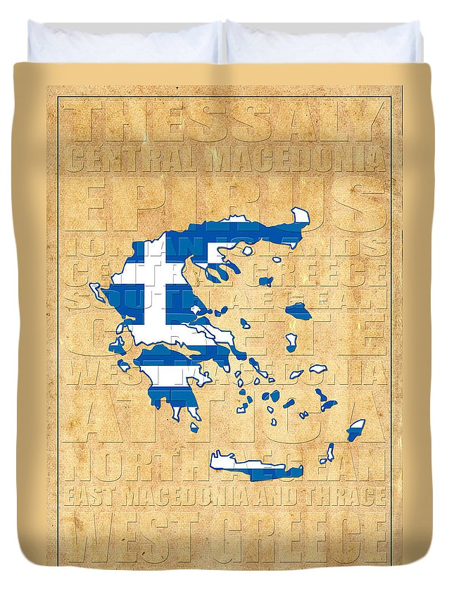 Greece Duvet Cover featuring the photograph Greece by Andrew Fare
