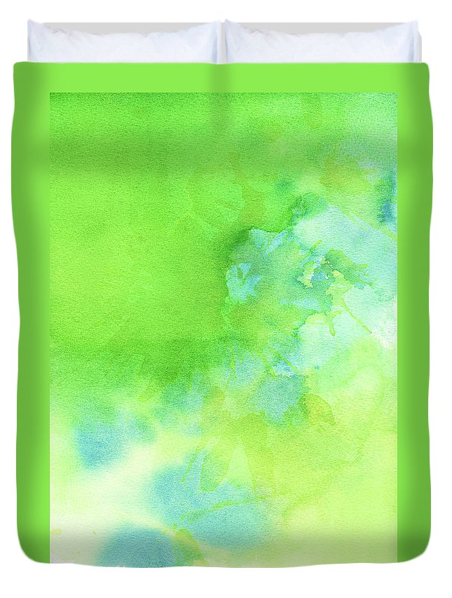 Art Duvet Cover featuring the photograph Green Blue Background Abstract by Taice