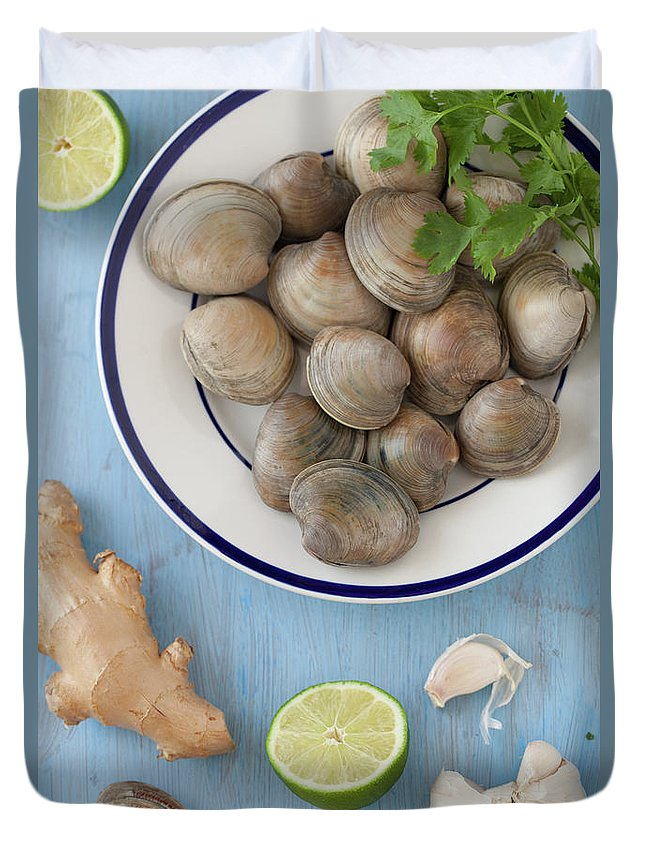 Newtown Duvet Cover featuring the photograph Green Curry, Coconut, Garlic & Ginger by Yelena Strokin