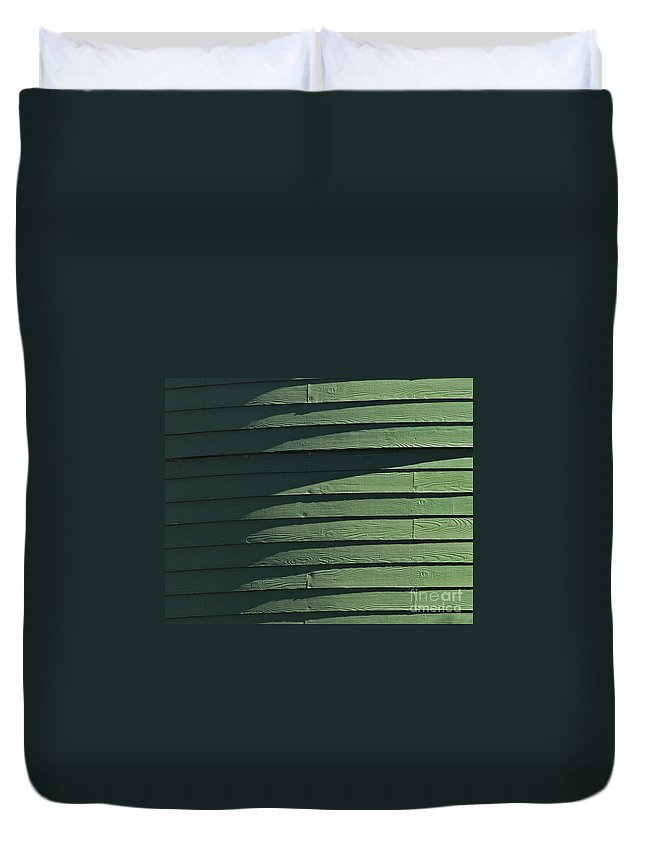 Green Duvet Cover featuring the photograph Green Facade by Roy Thoman