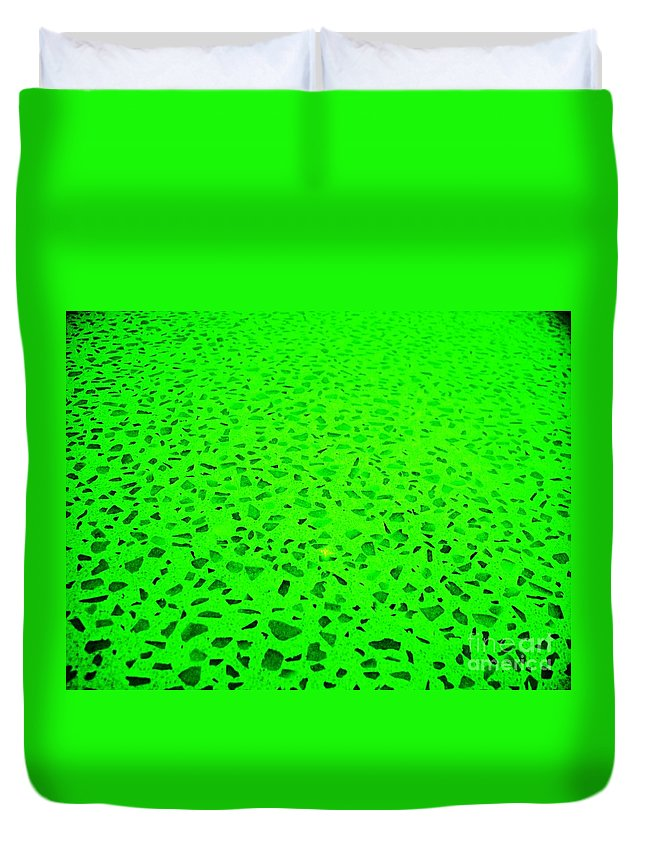 Green Abstract Duvet Cover featuring the photograph Green Representational Abstract by Eric Schiabor