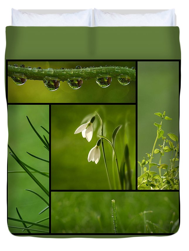 Organic Duvet Cover featuring the photograph Green by TouTouke A Y