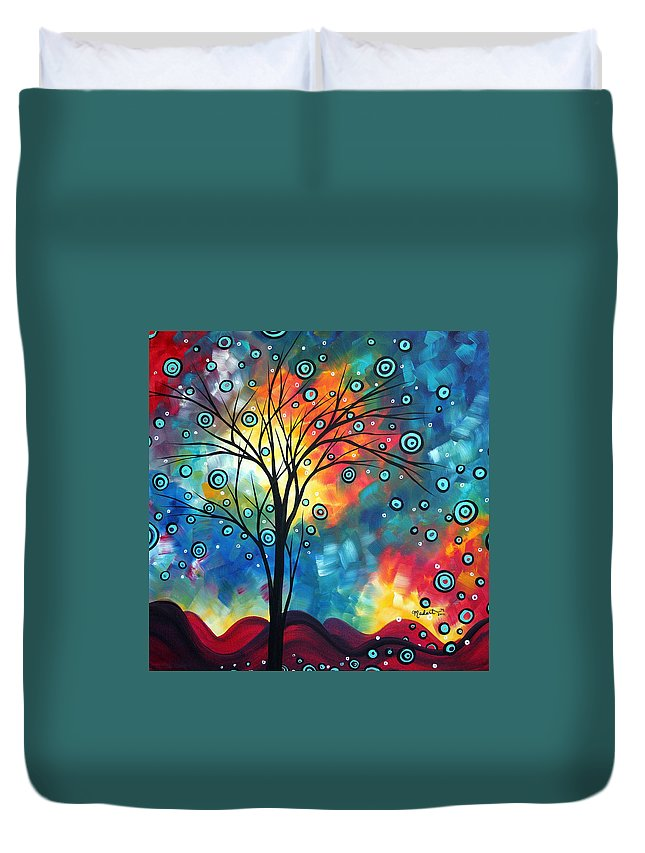 Wall Duvet Cover featuring the painting Greeting The Dawn By Madart by Megan Duncanson
