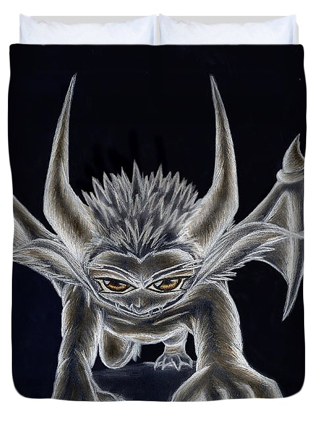 Demon Duvet Cover featuring the painting Grevil Inverted by Shawn Dall