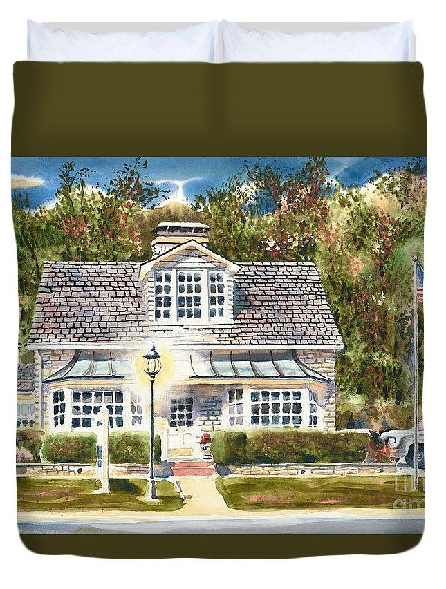 Greystone Inn Ii Duvet Cover featuring the painting Greystone Inn II by Kip DeVore