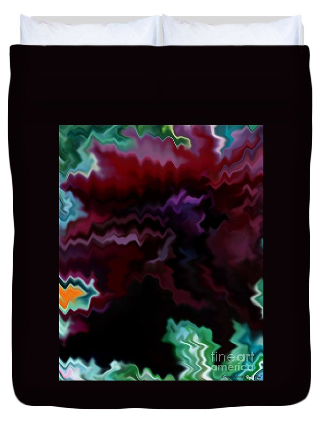 Fine Art Duvet Cover featuring the mixed media Grief by Patricia Griffin Brett