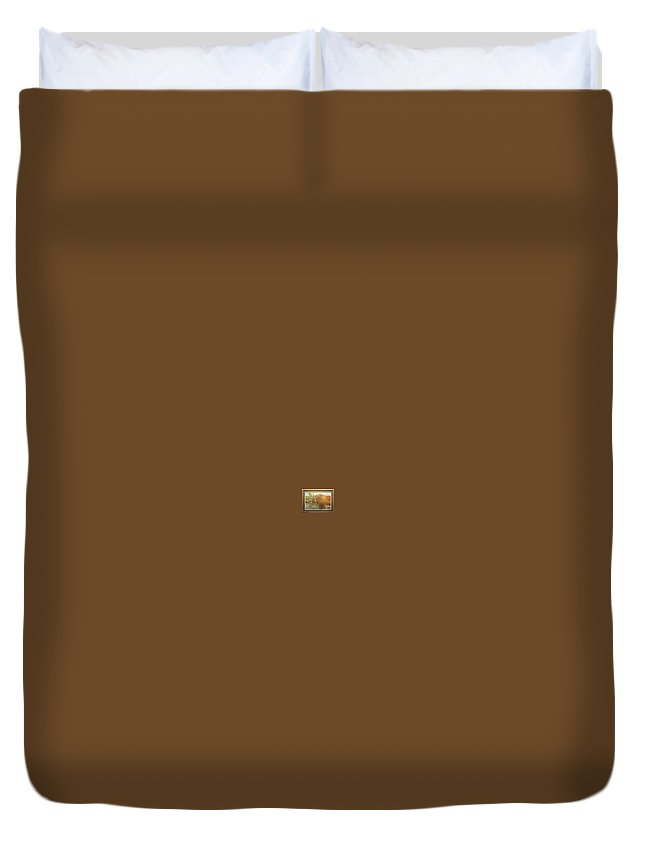 Rick Huotari Duvet Cover featuring the painting Grizzly by Rick Huotari