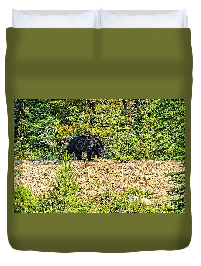 Grizzly Duvet Cover featuring the photograph Grizzly by Viktor Birkus