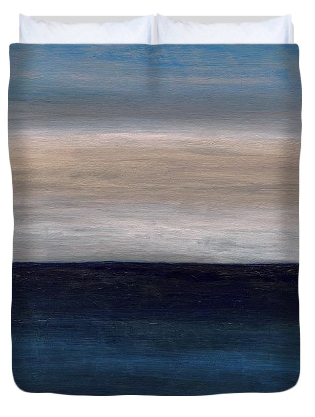 Abstract Duvet Cover featuring the painting Grounding By The Sea by Anthea Karuna