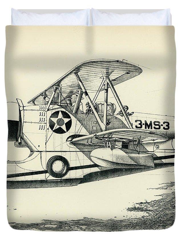 Grumman Duvet Cover featuring the photograph Grumman J2f-2a Amphibian by Hank Clark