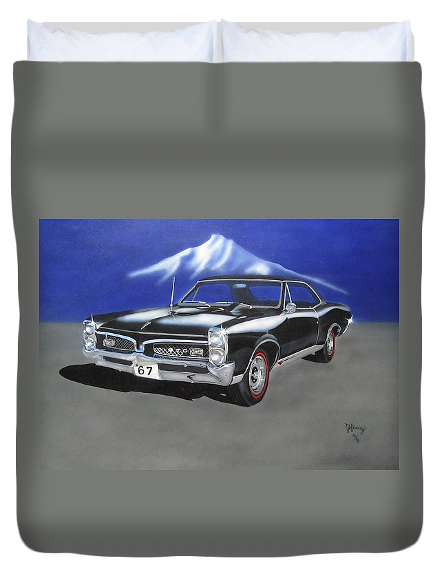 Gto Duvet Cover featuring the painting Gto 1967 by Thomas J Herring