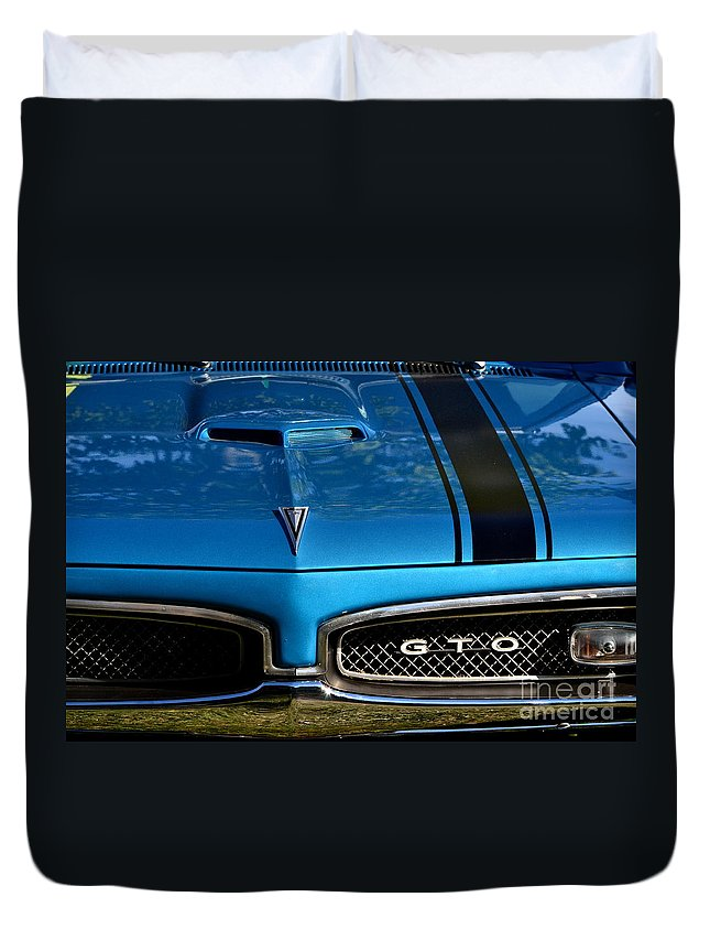 Duvet Cover featuring the photograph Gto In Blue by Dean Ferreira