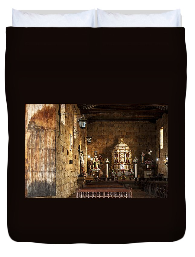 Religion Duvet Cover featuring the photograph Guane Church by Jess Kraft