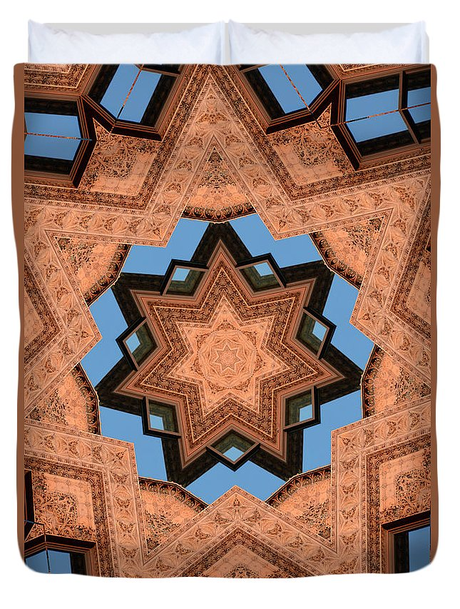 Kaleidoscope Duvet Cover featuring the photograph Guaranty by John Carocci